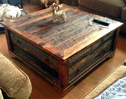 trunk style coffee table small tree living rustic chest with drawers
