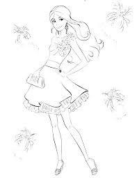Coloring Pages Barbie Coloring Pages Free E Dream House In The