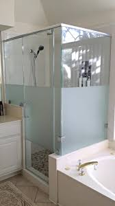 enchanting custom shower doors etched and painted of glass