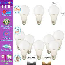 10 Bóng đèn Led 9w 10w bup tròn A60 bulb tiết kiệm điện kín chống nước  Posson LB-10x