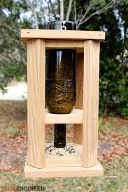 diy wine bottle bird feed free plan rogue engineer