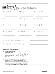 Algebra 1 Practice Worksheets With Answers Free Worksheets Library ...
