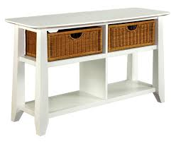 broyhill owen landing white sofa table