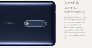 nokia 5 smartphone. the nokia 5 features a minimalistic yet exquisite aluminum smartphone design. design of is quite similar to that 6.