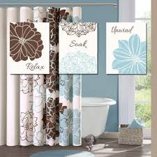 blue brown bathroom wall art canvas or prints bathroom outline flower set of 3 wall re on blue brown wall art with blue brown bathroom wall art canvas or from trm design wall art