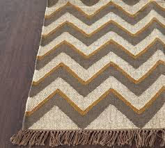 rugsville chevron beige khaki wool jute rug 13735