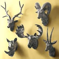 deer head on wall stag head wall decoration deer head on wall animal deer head on large deer stag head leather covered paper mache wall mount