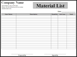 company phone list template material list template best word templates