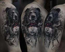 Shaman By Olggah идеи тату татуировки медведя тату и татуировки