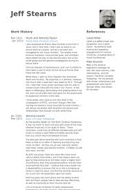 Youth And Worship Pastor Resume samples