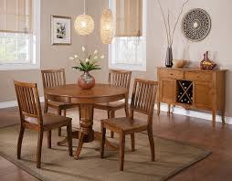candice round pedestal dining room set