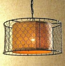 en wire lighting en wire chandelier unique for with burlap drum pendant lighting shades of light
