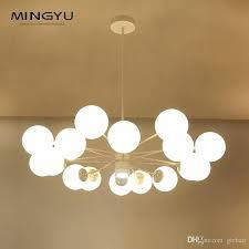 large ceiling pendant suspension light glass ball lamp creative design light for hotel pendant light shade