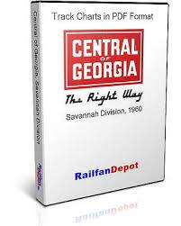 Central Of Georgia Track Chart Savannah Division 1960 Pdf On Cd Railfandepot 634972952540 Ebay