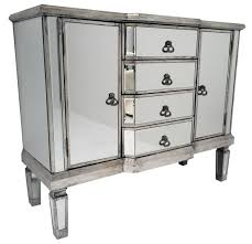 venetian glass vintage glam mirrored silver sideboard cabinet