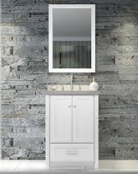 ace adams 25 inch single sink bathroom vanity set white finish