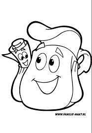 Dora Kleurplaat Rugzak En De Kaart Nickelodeon Kleurplaten