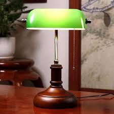 2019 vintage wooden green glass table lamp chinese style bedroom bedside lamps living room office study room antique green desk lamp from zhanhualighting