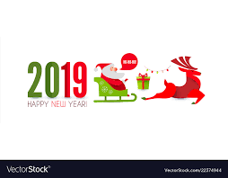 Christmas Design Template Happy Ner 2019 Year Christmas Design Template With