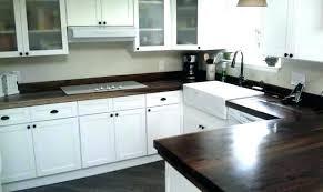black walnut counter top rustic kitchen countertop care