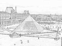 Coloriage La Pyramide Du Louvre Imprimer Pour Les Enfants Coloriage Pyramide Du LouvreL