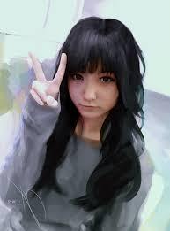 Tapety Dlouhé Vlasy Anime Umělecká Díla černé Vlasy Tmavé