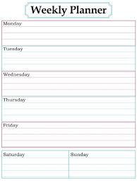 Weekly Planner Template 2018 Weekly Planner Template Pdf Free