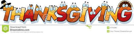 Word Thanksgiving Cartoon Thanksgiving Text Stock Vector Illustration Of