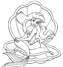 Small Picture Ariel Princess Coloring Pages The Red Hair Little Mermaid Princess