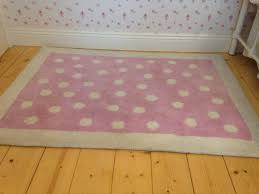 laura ashley pink polka dot rug