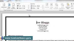 Resume Borders How To Add A Border To Your Résumé In Microsoft Word 24 YouTube 4