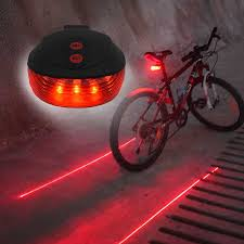 WasaFire Bicycle <b>LED</b> Taillight Safety Warning Light <b>5 LED</b>+2 <b>Laser</b> ...