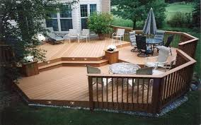wooden patio deck ideas backyard inovatics