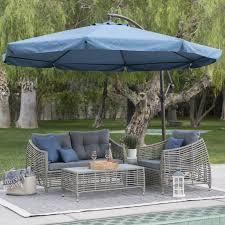 c coast 11 ft steel offset patio umbrella with detachable netting com