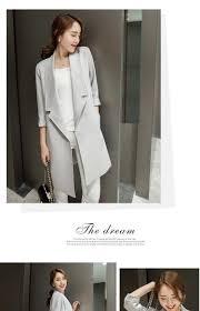 new winter coats jackets women thin coat in korean three quarter sleeve jacket small suit trench 10225