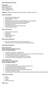 Resume For Dentist Job Best Of Resume For Gym Receptionist Resume Templates For Receptionist