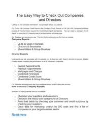 Free Company Report The Easy Way To Check Out Companies And Directors By Arif