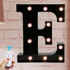 Battery Powered Light Up Letters Marquee Letter Sign Lights Light Up Black E Letters Home Decor Name Signs Battery Operated Led Remote Timer Lighted Vintage Accessories