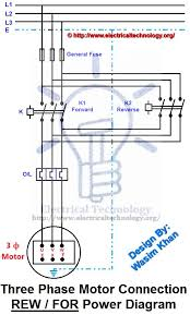rev for three phase motor connection power diagram electricity rev for three phase motor connection power diagram