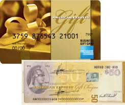 american express gift cards and cheques