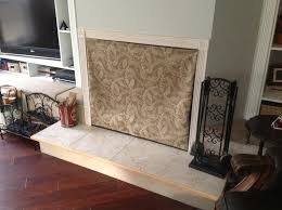 Fireplace Cover Up fireplace covers for wood burning fireplace - insulated  decorative