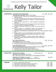 Resume Samples For Teaching Experienced Elementary School Teacher