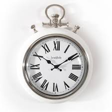 farrow and bentley pocket watch wall clock white