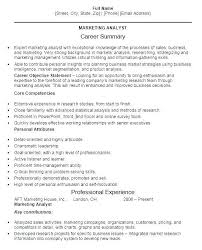 Market Research Analyst Resume Objective Nfcnbarroom Com