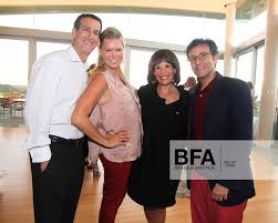 Bruce Richards, Avis Richards, Linda Fischbach, Benjamin Doller at  Sotheby's Contemporary Art Summer Party at The