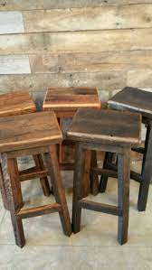 diy rustic bar. reclaimed rectangle barn wood bar stool sealed or painted free shipping - rebsc128f diy rustic
