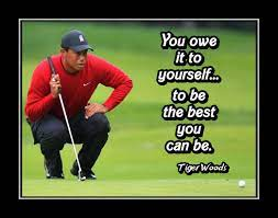 Tiger Woods 'You owe it to Youself' Golf Quote Poster, Golfer Motivational  Wall Art Gift, - ArleyArt.com