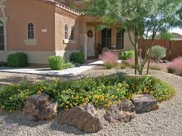 Interior Rock Landscaping Ideas Simple Front Yard Desert