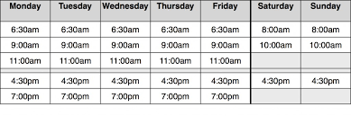 Schedule Bikram Yoga College Of India San Diego