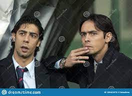 Rui Costa Und Filippo-inzaghi Vor Dem Spiel Redaktionelles Bild - Bild von  joseph, costa: 189461670